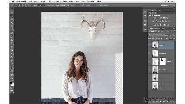 Finishing the background: Photoshop for Photographers: Compositing