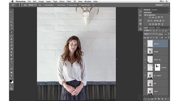 Making final adjustments: Photoshop for Photographers: Compositing