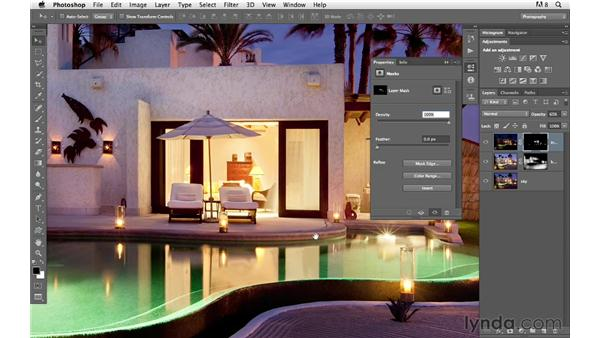 Correcting overexposure: Photoshop for Photographers: Compositing