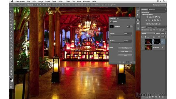 Correcting overexposure with Color Range: Photoshop for Photographers: Compositing