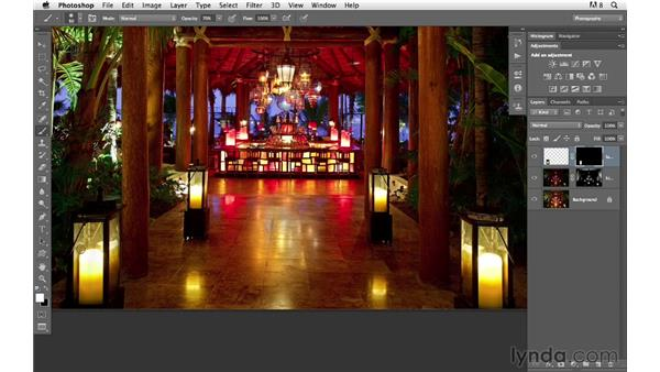 Adding candlelight and enhancing color and tone: Photoshop for Photographers: Compositing