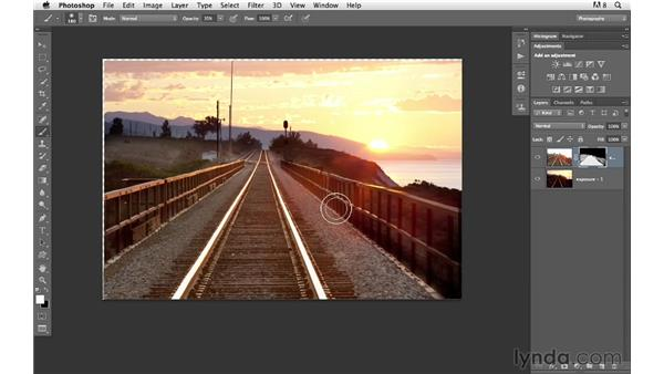 Combining two exposures for the foreground and sky: Photoshop for Photographers: Compositing