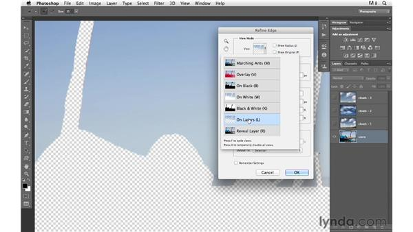 Filling an ordinary, plain blue sky with interesting clouds: Photoshop for Photographers: Compositing