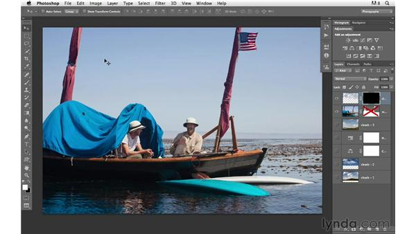 Using advanced masking to create a more subtle look: Photoshop for Photographers: Compositing