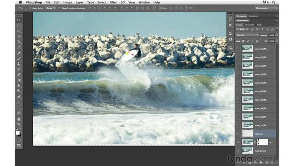 Building the background: Photoshop for Photographers: Compositing