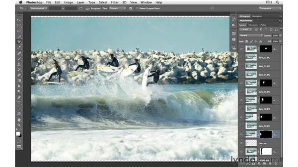 Cropping and finishing the image sequence: Photoshop for Photographers: Compositing
