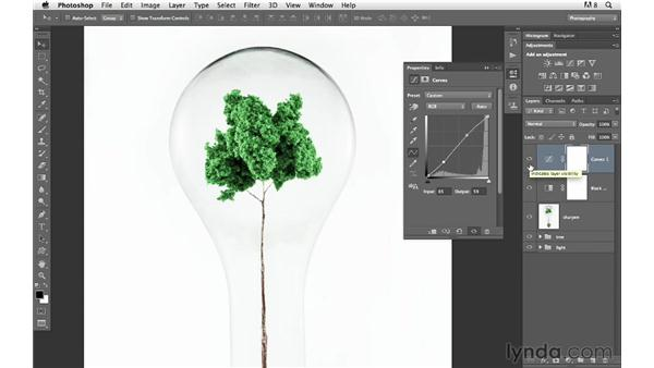 Sharpening and final adjustments: Photoshop for Photographers: Compositing