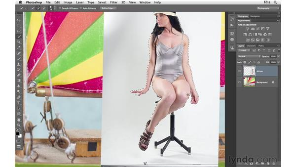 Masking the subject into the scene: Photoshop for Photographers: Compositing