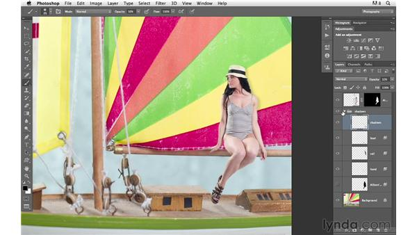 Making final color and tone adjustments: Photoshop for Photographers: Compositing