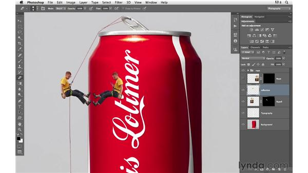 Creating a reflection and shadows: Photoshop for Photographers: Compositing