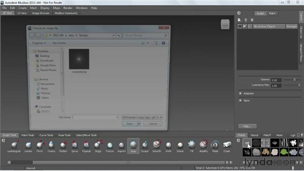 Understanding where to store user-made tools: Mudbox 2013 Essential Training