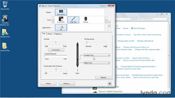 Optimizing a Wacom tablet for Mudbox: Mudbox 2013 Essential Training