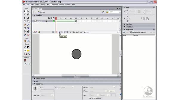 edit multiple frames: Flash MX 2004 Essential Training