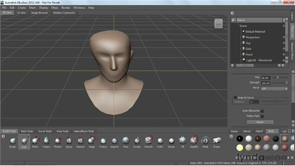 Customizing the sculpt tools: Mudbox 2013 Essential Training