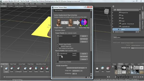 Sculpting custom stamps and stencils: Mudbox 2013 Essential Training
