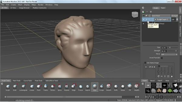 Sculpting with layers: Mudbox 2013 Essential Training