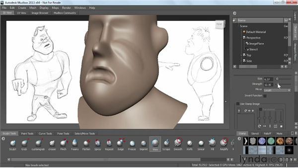 Bringing it together: Sculpting demo: Mudbox 2013 Essential Training