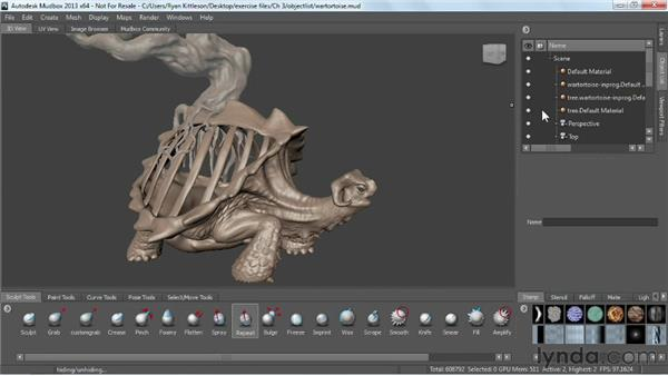 Using the Object List: Mudbox 2013 Essential Training