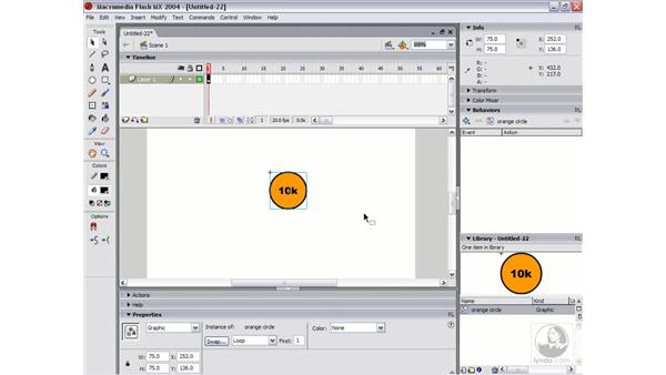 creating and editing symbols: Flash MX 2004 Essential Training
