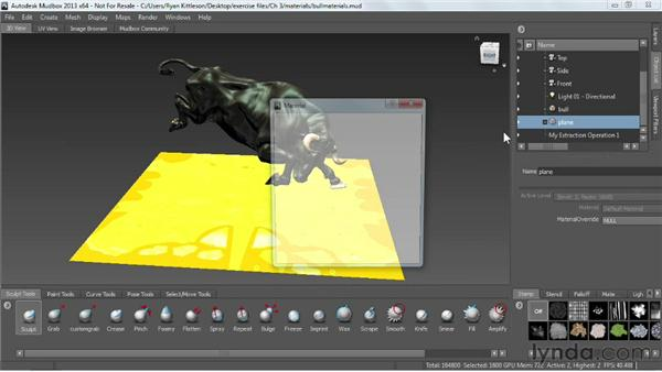 Using materials with multiple objects: Mudbox 2013 Essential Training