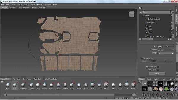 Using UV maps: Mudbox 2013 Essential Training