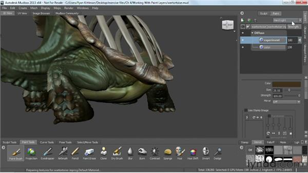 Working with paint layers: Mudbox 2013 Essential Training