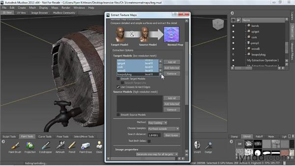 Making normal maps: Mudbox 2013 Essential Training