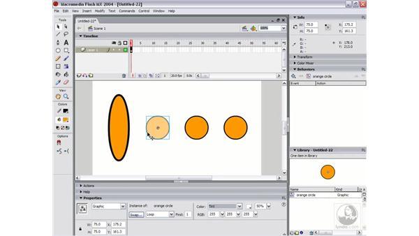 editing symbol instances: Flash MX 2004 Essential Training