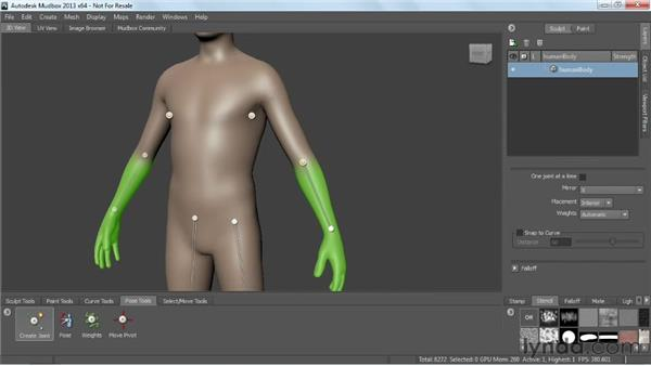 Creating joint skeletons: Mudbox 2013 Essential Training