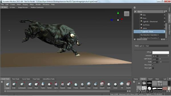 Using point and image-based lights: Mudbox 2013 Essential Training