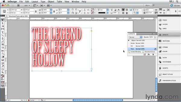 050 Creating Editable Knockout Text: InDesign FX