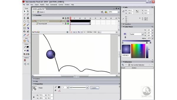motion guides: Flash MX 2004 Essential Training