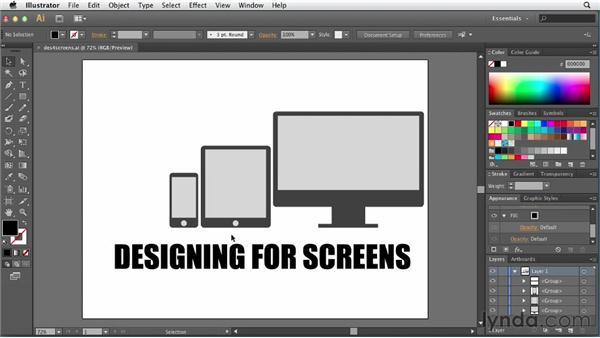Designing for screens: Illustrator for Web Design