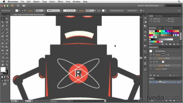 Working with Pixel Preview and anti-aliasing: Illustrator for Web Design