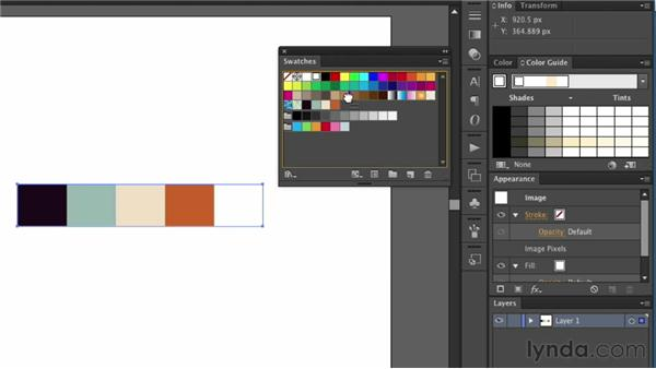 Creating custom swatches: Illustrator for Web Design