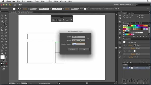 Drawing simple shapes: Illustrator for Web Design