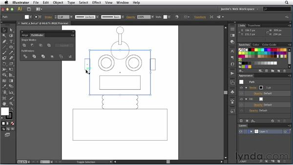 Working with Pathfinder: Illustrator for Web Design