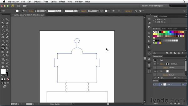 Using the Shape Builder tool: Illustrator for Web Design