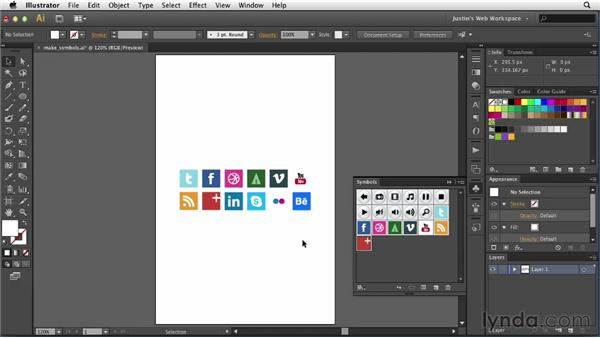 Creating symbols: Illustrator for Web Design
