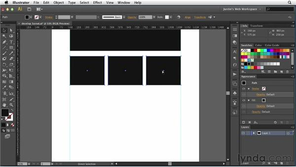Developing a layout with shapes: Illustrator for Web Design