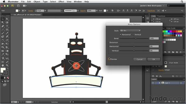 Applying and editing live effects: Illustrator for Web Design