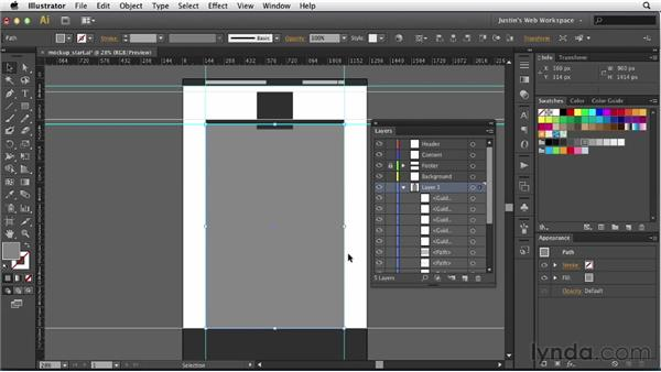 Starting with a wireframe: Illustrator for Web Design