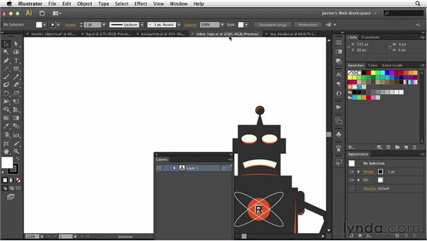 Adding master elements: Illustrator for Web Design