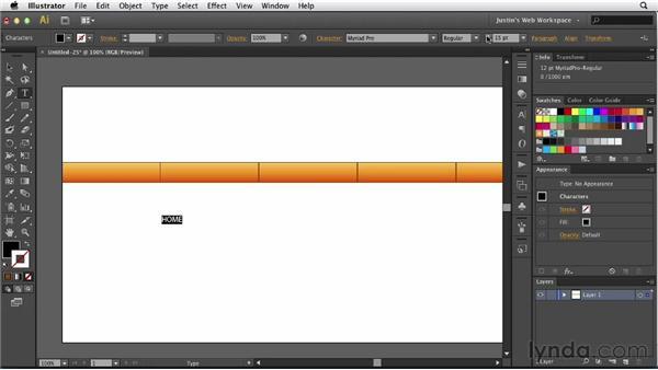 Creating navigation buttons: Illustrator for Web Design