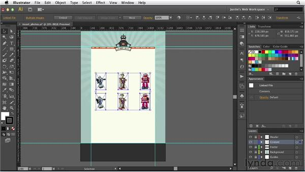 Working with photographs: Illustrator for Web Design
