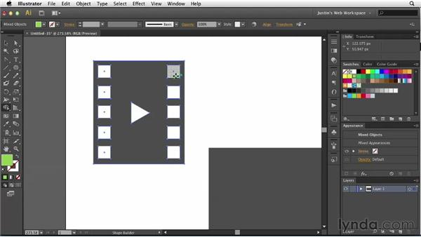 Creating video placeholders: Illustrator for Web Design