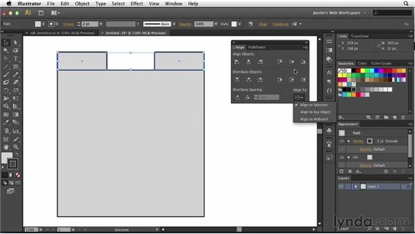 Creating tabbed interfaces: Illustrator for Web Design