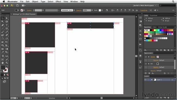 Understanding slicing: Illustrator for Web Design