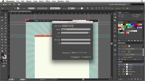 Slicing up a mockup: Illustrator for Web Design