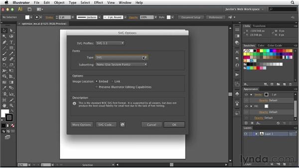 Exporting SVG graphics: Illustrator for Web Design